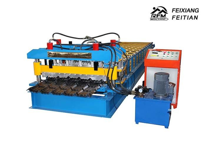 High Performance Glazed Tile Roll Forming Machine With 0.3 - 0.6mm Thickness