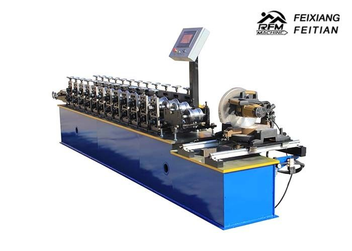 Aluminum Steel Roller Shutter Door Roll Forming Machine FX98 With Fly Saw